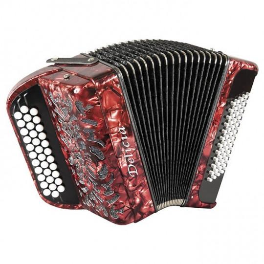 Delicia SONOREX 1236 - C-system - knoflíkový chromatický akordeon