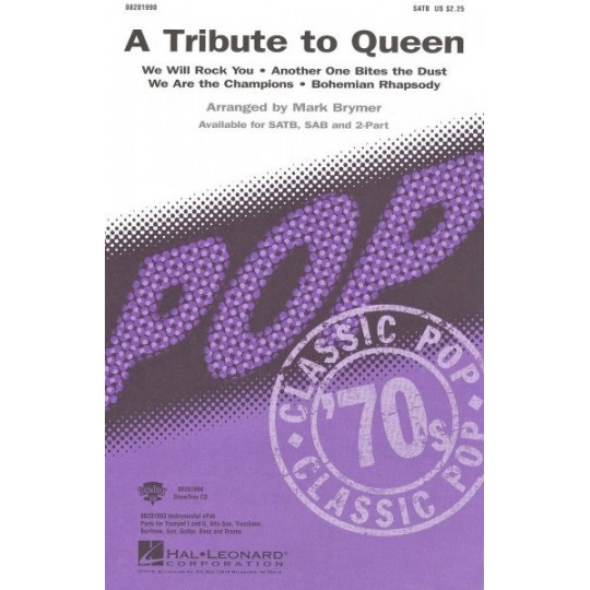 A Tribute to Queen - SATB + piano chords