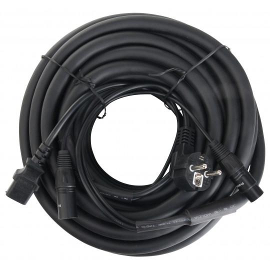 Pronomic EUIECX-15 hybridní kabel EURO + XLR/XLR 15 m