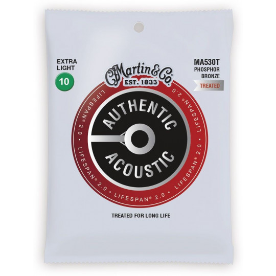 MARTIN Authentic Lifespan 2.0 92/8 Phosphor Bronze Extra Light