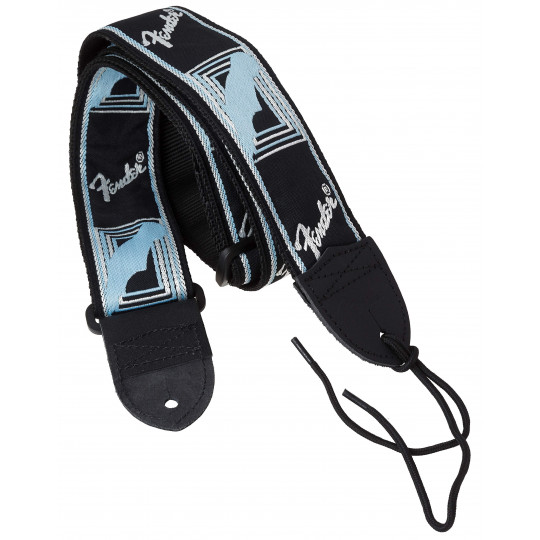 Fender Strap, Black/Light Grey/Blue kytarový řemen