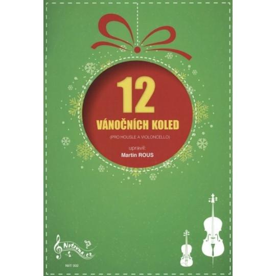 12 vánočních koled pro housle a violoncello