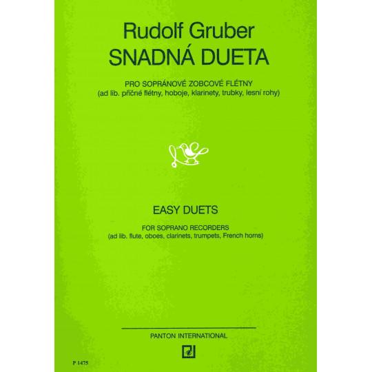 Snadná dueta pro zobcové flétny nebo dva nástroje stejného ladění - Rudolf Gruber