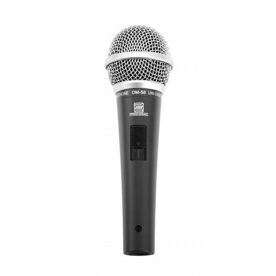 Pronomic DM-58 dynamický mikrofon s vypínačem a držákem