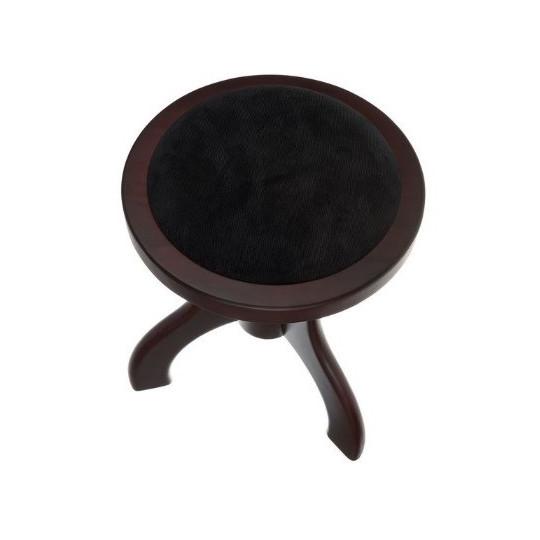 AW klavírní stolička s kulatým sedákem - ořech matná