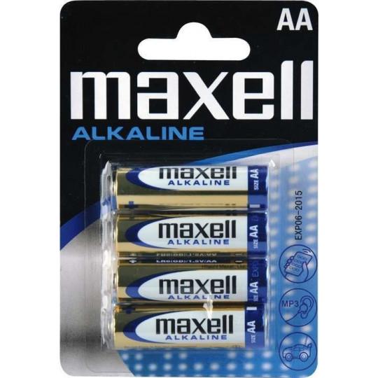 Maxell AA 4ks baterie LR6