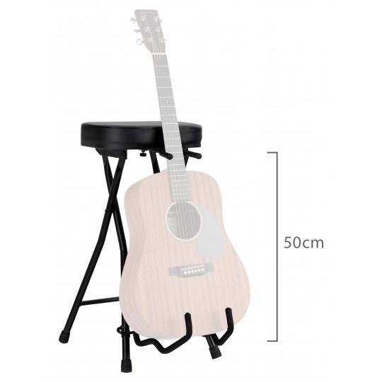 Proline stolička pro kytaristy se stojanem