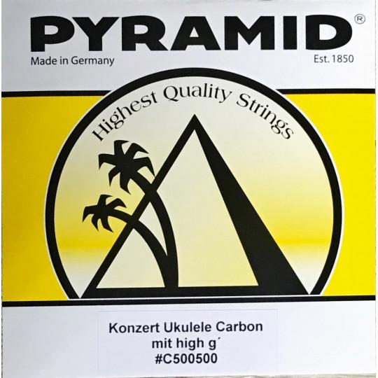 Pyramid struny na koncertní ukulele nylon carbon