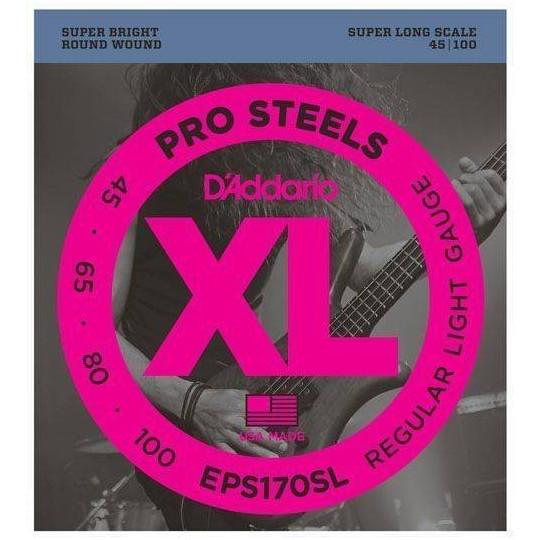 D'Addario EPS170-SL - struny pro baskytaru - dlouhá menzura (34palců)