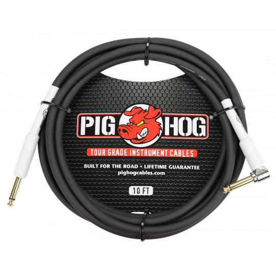 Pig Hog PH10R nástrojový kabel 3 m lomený