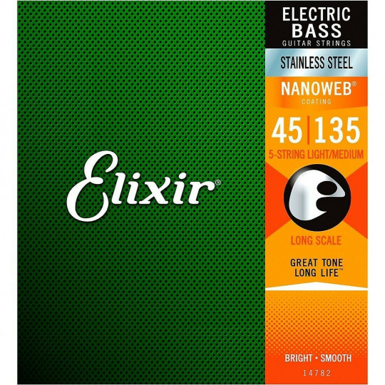 ELIXIR el. bass-5 45 - 130 struny na baskytaru