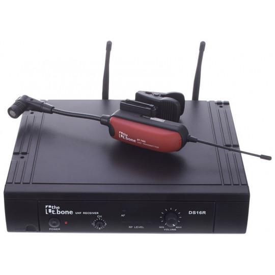 The t.bone TWS16 BT bezdrátový diverzitní set, mikrofon klip