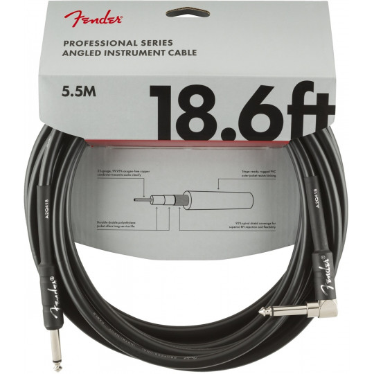 Fender Professional series instrument cable angled 18,6ft