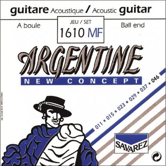 Savarez struny pro akustickou kytaru Argentine 1610MF s kuličkou