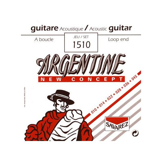 Savarez struny pro akustickou kytaru Argentine Sada 1510