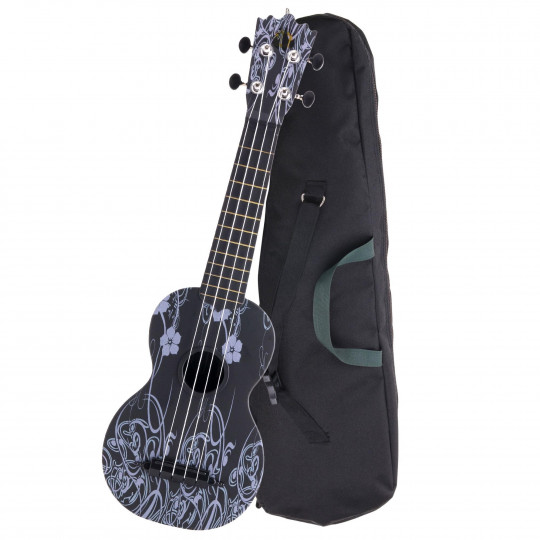 PROLINE Ukulele ABS plast Sopran - Black Beauty
