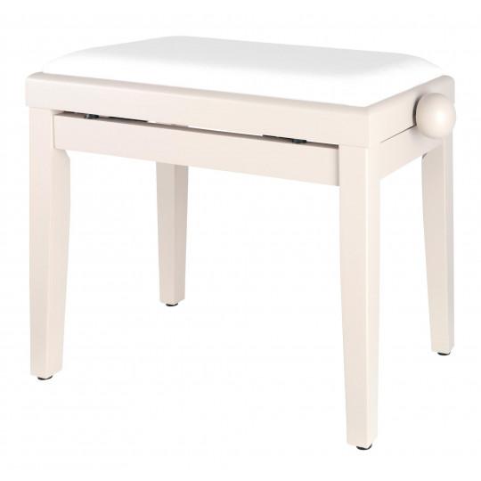 Proline klavírní stolička - bílý mat