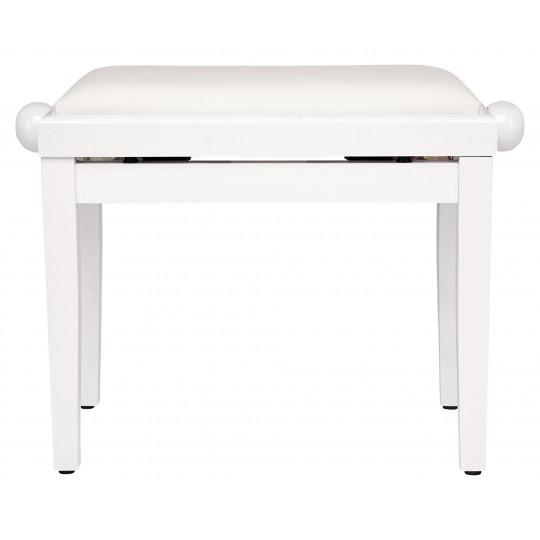 PROLINE klavírní stolička - bílý lesk