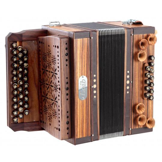 Loib Harmonika 3/II Zebrano G-C-F, X-Bass