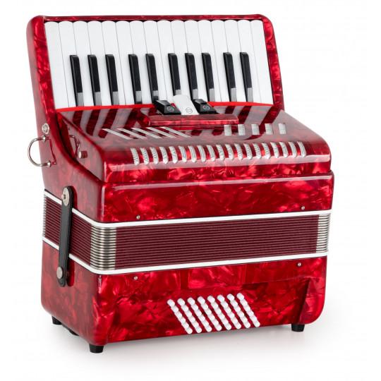 Classic Cantabile Secondo V akordeon - 48 Bass červený