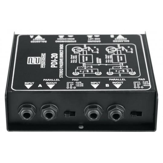Pronomic PDI-20 passive Stereo-DI-Box