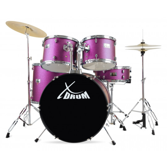 "XDrum Semi 22"" Standard Set Satin Purple Sparkle"