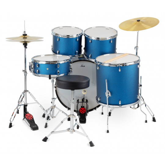 "XDrum Semi 22"" Standard Set Satin Blue Sparkle"