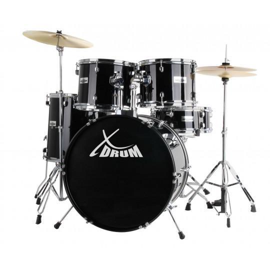 """XDrum Semi 20"""" Studio Set Midnight Black"""