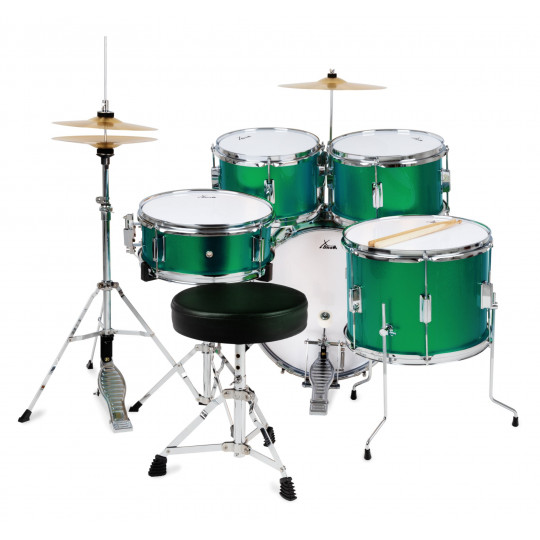 XDrum Junior Pro Emerald Green Sparkle dětská bicí sada