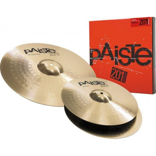 "PAISTE 201 Bronze set 14"" hi-hat, 18"" crash"