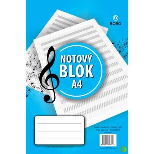 Notový blok A4