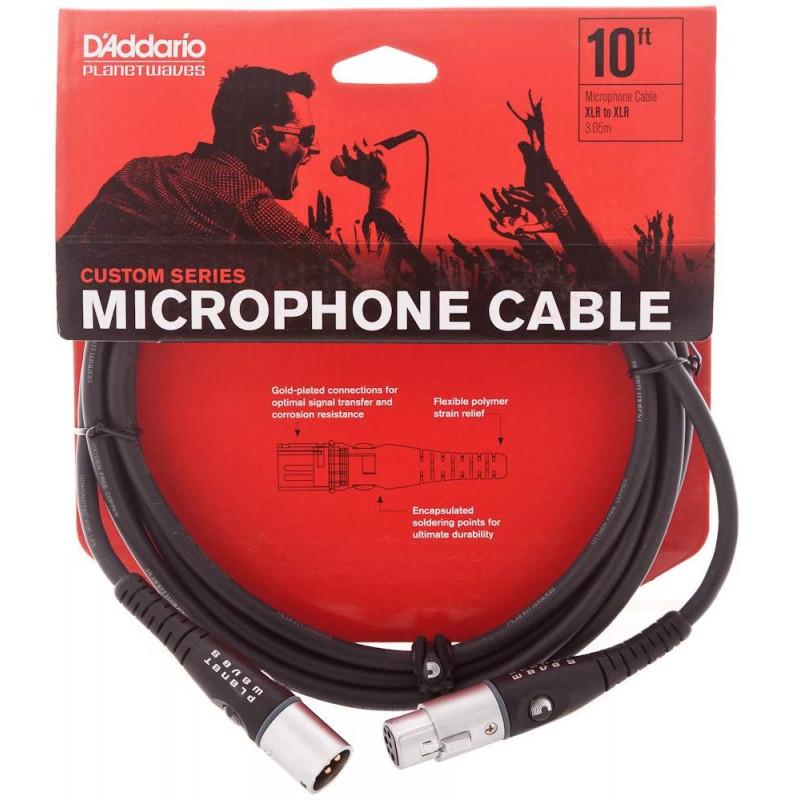 PLANET WAVES PW-M-10 mikrofonní kabel XLR/XLR - 3m