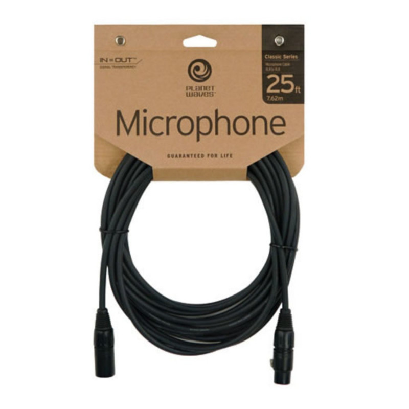 PLANET WAVES PW-CMIC-25 mikrofonní kabel