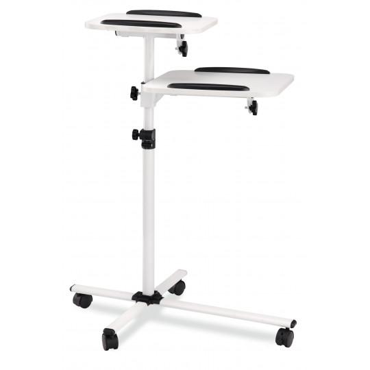 Proline vozík pro projektor bílý s bílými policemi