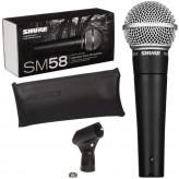 SHURE SM58SE - dynamický mikrofon zpěvový s vypínačem