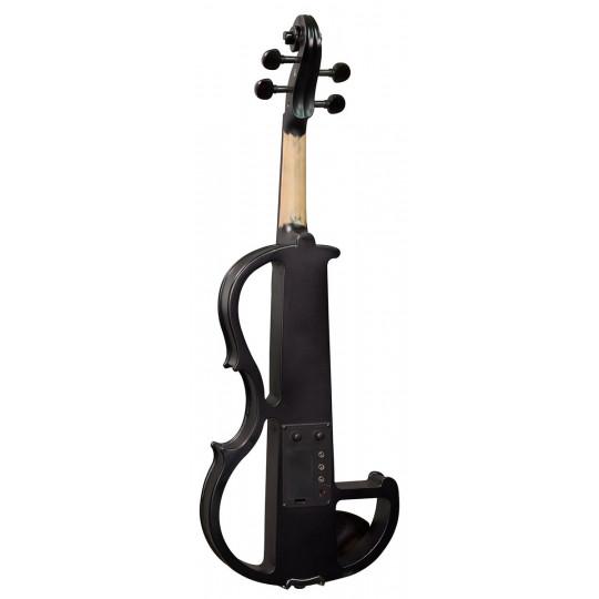 Hidersine Violin Electric Black Satin Finish