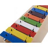 Goldon metalofon 12 barevných kamenů dřevěný rám