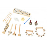 Goldon sada perkusních nástrojů v dřevěném vozíku 1