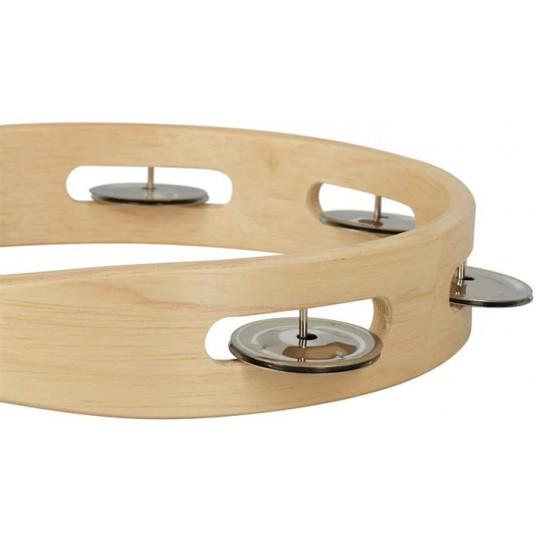 GOLDON - dřevěná tamburína bez blány - 20cm (35205)
