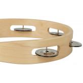 GOLDON - dřevěná tamburína bez blány - 25cm (35210)