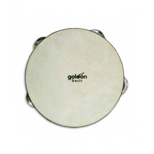 GOLDON - tamburína s blánou a chřestítky - 15cm (35285)